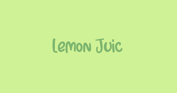Lemon Juice font thumb